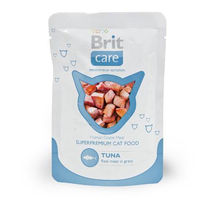 Купить Brit Care Cat Tuna Кусочки филе в соусе для взрослых кошек (с тунцом), 80 гр