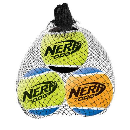 NERF Dog Мяч теннисный пищащий, 5 см, 3 шт фото