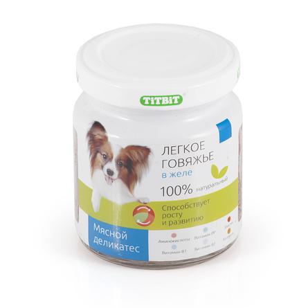 Купить TiTBiT Легкое говяжье в желе для взрослых собак всех пород, 100 гр