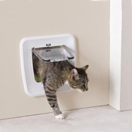 Savic Access 4-Way Upgradable Дверь-створка улучшаемая для кошек 4 положения, белая