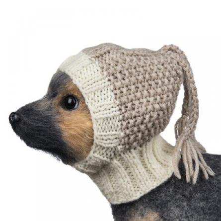 Купить DogModa Шапочка для собак от 1, 5 до 2, 5 кг, бежевая, вязанная