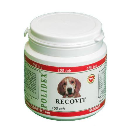 Polidex Recovit Кормовая добавка для собак после болезней, травм, операций, 150 таблеток фото