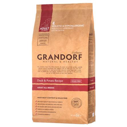 Купить Grandorf Duck & Potato Adult All Breeds Сухой корм для взрослых собак всех пород (с уткой и картофелем), 3 кг