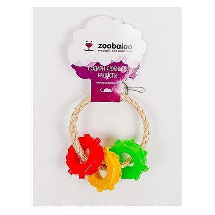 Zoobaloo Кольцо с бубликами игрушка для грызунов фото