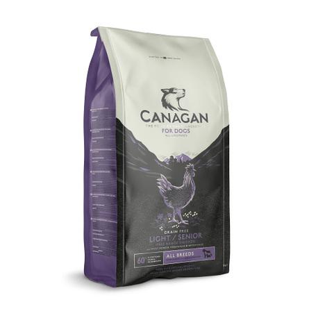 CANAGAN Grain Free Light/Senior Беззерновой сухой корм для пожилых и полных собак всех пород (с цыпленком), 6 кг фото