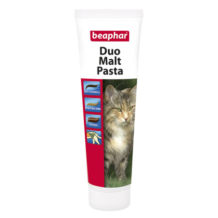 Beaphar Duo Malt Pastа Паста двойного действия для кошек для выведения шерсти (с солодом), 100 гр