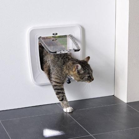 Savic Access 4-Way Magnetic Дверь-створка с магнитным замком для кошек 4 положения, белая