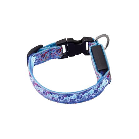 Купить V.I.Pet Ошейник светящийся для собак Акварель с USB-зарядкой, ширина 1, 5 см, длина 18-28 см