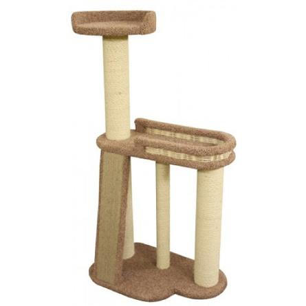 Купить Пушок Пух Комплекс-когтеточка ковролиновая для кошек, цвет в ассортименте, сезаль