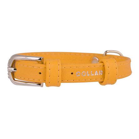 Купить Collar Ошейник для собак, Collar Glamour , без украшений, ширина 1, 2 см, длина 21-29 см, желтый