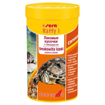 Sera Raffy I Смесь сублимированных кормов для плотоядных рептилий, натуральные кусочки, 35 гр