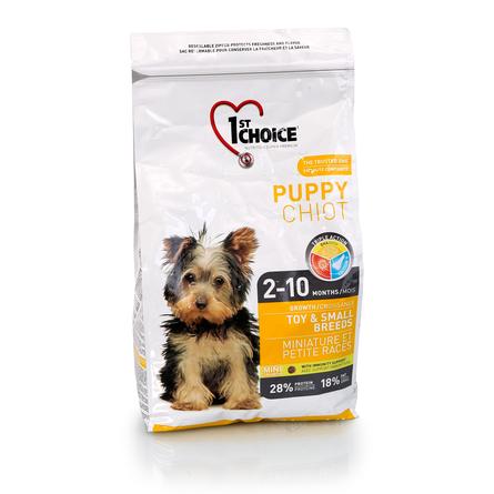 1st Choice Puppy Toy&Small Breeds Cухой корм для щенков декоративных и мелких пород (с курицей), 2,72 кг фото