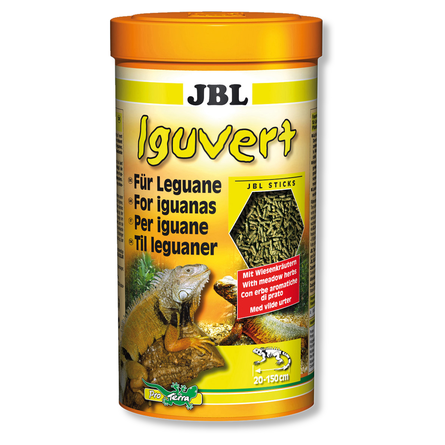 JBL Iguvert Корм для игуан и других травоядных рептилий, палочки, 250 мл