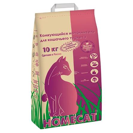 Купить HOMECAT Комкующийся глиняный наполнитель для кошачьего туалета, без добавок, 10 кг
