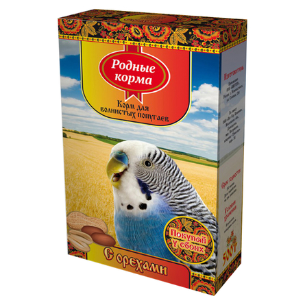 Купить Родные Корма Корм для волнистых попугаев (с орехами), 500 гр, Родные корма