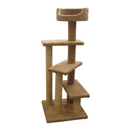 Купить Пушок Винтовая лестница когтеточка-комплекс для кошек, сезаль
