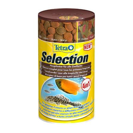 Купить Tetra Selection набор из 4 видов сухих кормов для аквариумных рыб, 45 гр