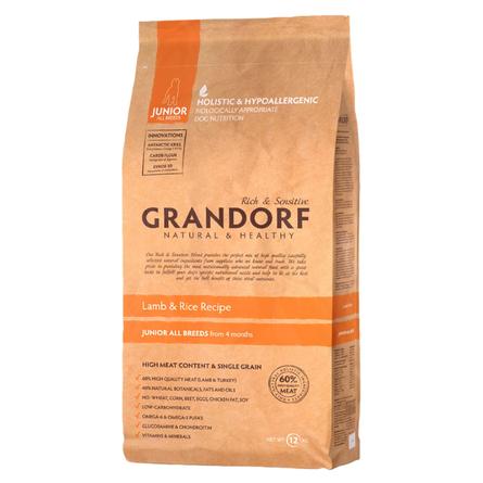 Купить Grandorf Lamb & Rice Junior All Breeds Сухой корм для молодых собак всех пород (с ягненком и рисом), 12 кг