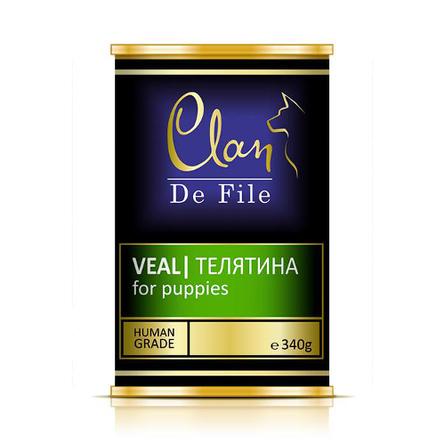 Clan De File Филе для щенков всех пород (с телятиной), 340 гр фото